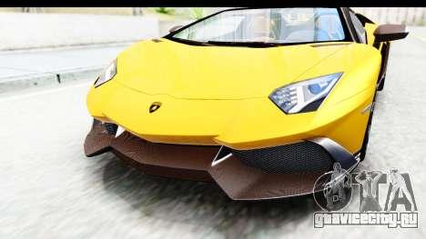Lamborghini Aventador LP720-4 Roadster 2013 для GTA San Andreas вид сбоку