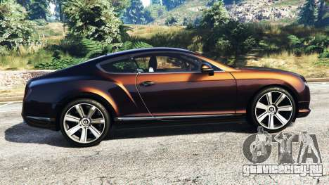 Bentley Continental GT 2012 [replace] для GTA 5 вид слева