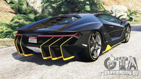 Lamborghini Centenario LP770-4 2017 [add-on] для GTA 5 вид сзади слева