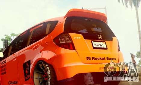 Honda Fit 2009 Rocket Bunny для GTA San Andreas вид справа