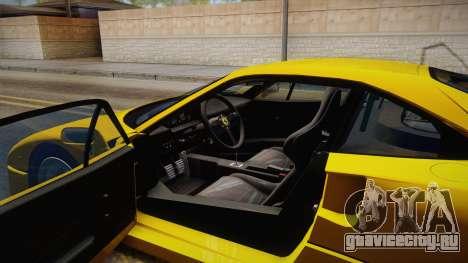 Ferrari F40 (EU-Spec) 1989 IVF для GTA San Andreas вид изнутри
