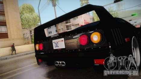 Ferrari F40 (US-Spec) 1989 IVF для GTA San Andreas вид справа