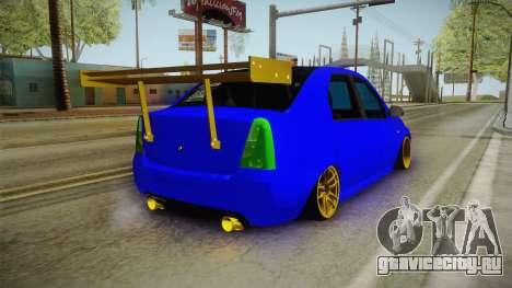 Dacia Logan Stance Haur Edition для GTA San Andreas вид сзади слева