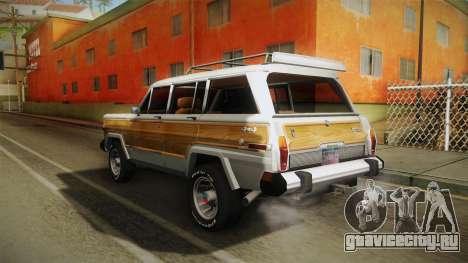 Jeep Grand Wagoneer Limite 1986 для GTA San Andreas вид сзади слева