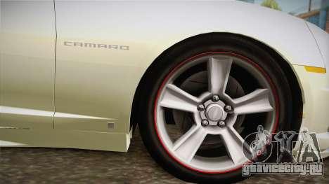 Chevrolet Camaro Synergy для GTA San Andreas вид сзади слева