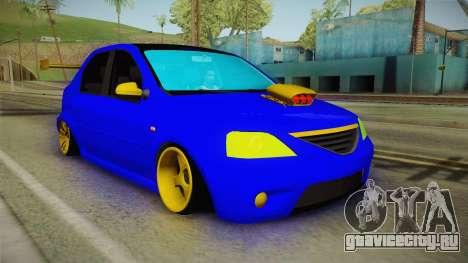 Dacia Logan Stance Haur Edition для GTA San Andreas вид справа