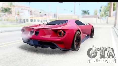 Ford GT 2016 для GTA San Andreas вид слева