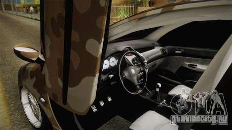 Peugeot 206 Army для GTA San Andreas вид справа