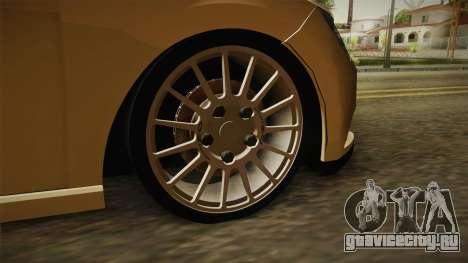 Seat Leon FR для GTA San Andreas вид сзади