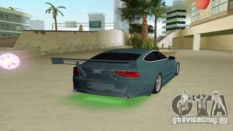AUDI A7 SPORTS для GTA Vice City вид сзади слева
