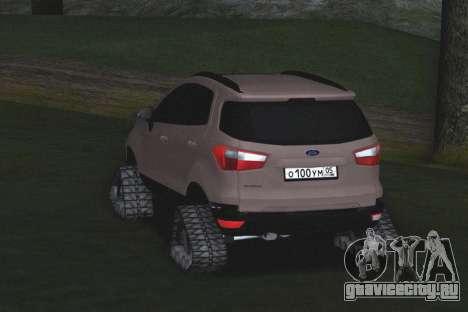 Ford Ecosport Off-Road для GTA San Andreas вид справа