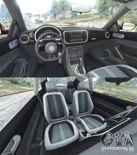 Volkswagen Beetle Turbo 2012 [replace] для GTA 5 вид сзади справа