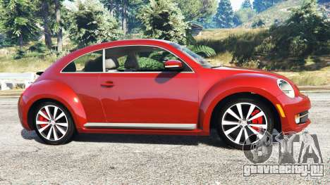 Volkswagen Beetle Turbo 2012 [replace] для GTA 5 вид слева