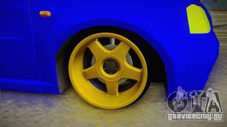 Dacia Logan Stance Haur Edition для GTA San Andreas вид сзади