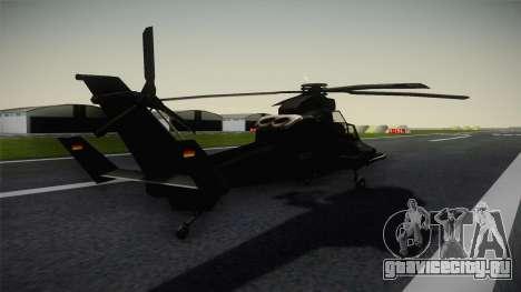 Eurocopter Tiger для GTA San Andreas вид сзади слева