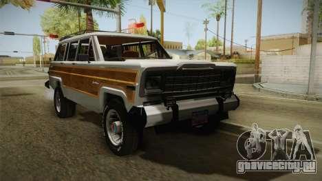 Jeep Grand Wagoneer Limite 1986 для GTA San Andreas
