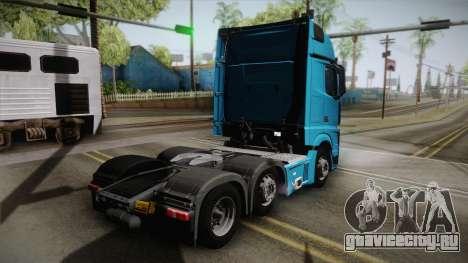Mercedes-Benz Actros Mp4 6x2 v2.0 Gigaspace для GTA San Andreas вид слева
