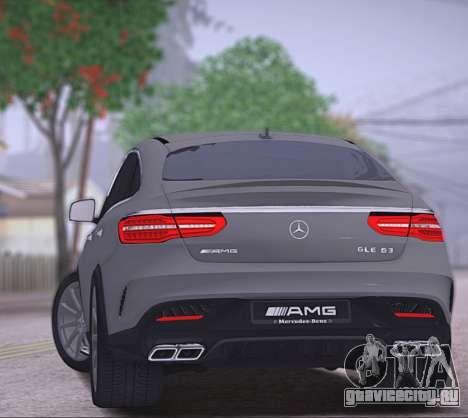 Mercedes-Benz GLE AMG для GTA San Andreas вид справа