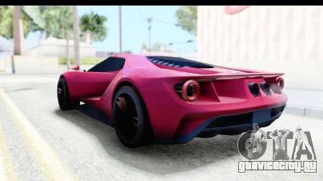 Ford GT 2016 для GTA San Andreas вид сзади слева