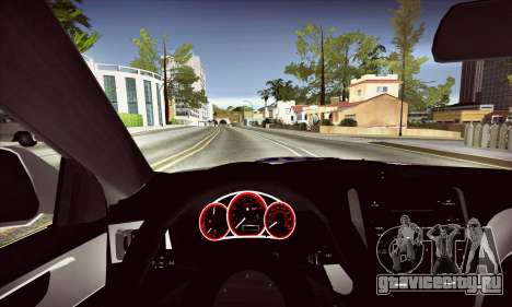 Subaru Impreza WRX STI Police для GTA San Andreas вид изнутри