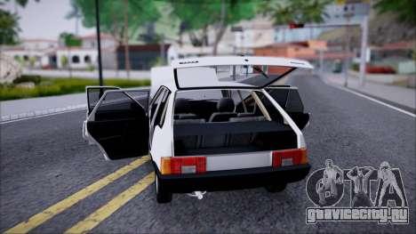 ВАЗ 2109 СТОК для GTA San Andreas вид справа
