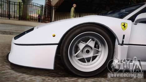 Ferrari F40 (EU-Spec) 1989 HQLM для GTA San Andreas вид сзади слева
