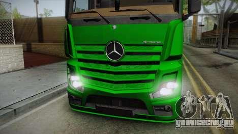 Mercedes-Benz Actros Mp4 6x2 v2.0 Bigspace для GTA San Andreas вид сзади слева