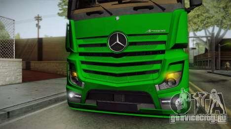 Mercedes-Benz Actros Mp4 6x2 v2.0 Bigspace для GTA San Andreas вид изнутри
