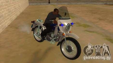 Урал Полиция для GTA San Andreas вид сзади