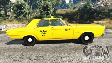 Plymouth Belvedere 1965 Taxi [replace] для GTA 5 вид слева