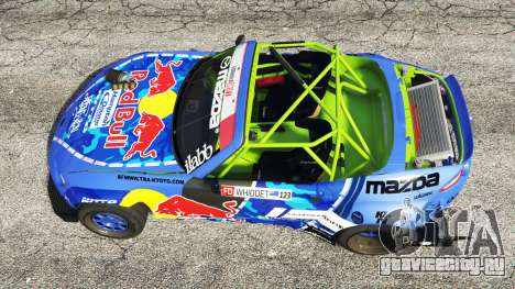 Mazda MX-5 (ND) RADBUL Mad Mike [replace] для GTA 5 вид сзади