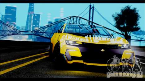 Chevrolet Camaro SS 2016 Bumblebee TF 5 для GTA San Andreas вид сзади слева