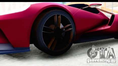 Ford GT 2016 для GTA San Andreas вид сзади