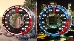 Спидометр GTA SA Style V16x9 (widescreen)