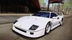 Ferrari F40 (EU-Spec) 1989 HQLM для GTA San Andreas