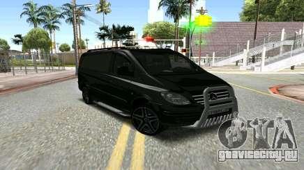 Mercedes-Benz Vito чёрный для GTA San Andreas