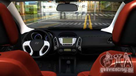 Hyundai ix35 Aze для GTA San Andreas вид сзади