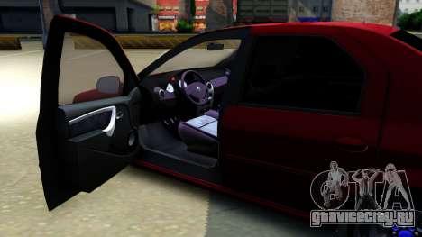 Renault Logan для GTA San Andreas вид изнутри