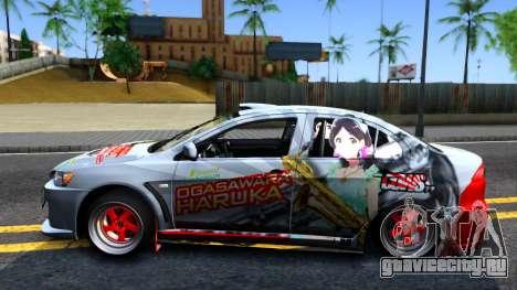 Ogasawara Haruka MITSUBISHI EVO X Itasha для GTA San Andreas вид слева