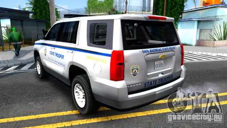 2015 Chevy Tahoe San Andreas State Trooper для GTA San Andreas вид справа
