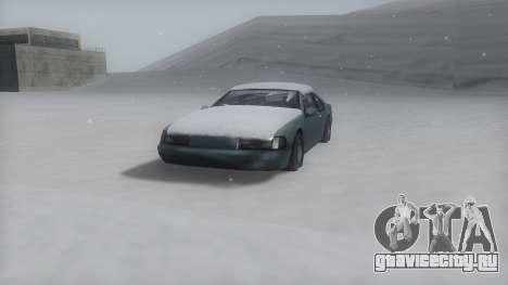 Fortune Winter IVF для GTA San Andreas вид сзади слева