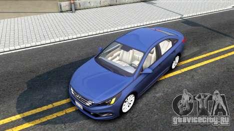 Hyundai Sonata 2016 для GTA San Andreas вид сзади