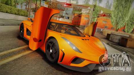 Koenigsegg Regera 2016 Bonus для GTA San Andreas