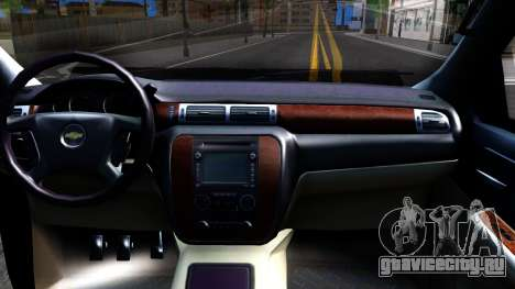 Chevrolet HD 3500 2013 для GTA San Andreas вид изнутри
