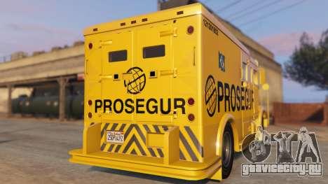 Carro Forte Prosegur Brasil для GTA 5 вид сзади слева