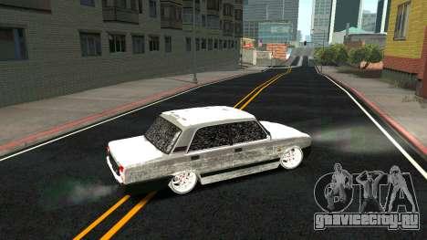 ВАЗ 2107 Classic 2 Зимняя версия для GTA San Andreas салон