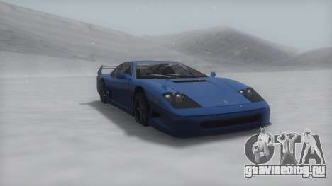 Turismo Winter IVF для GTA San Andreas вид слева