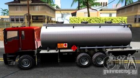 GTA V MTL Dune Oil Tanker для GTA San Andreas вид слева