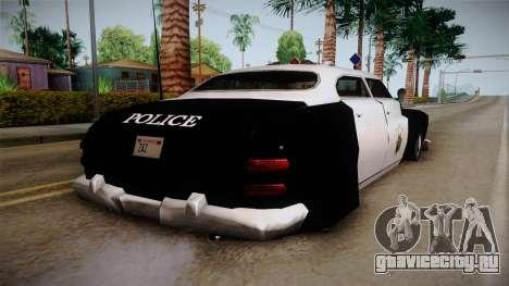 Hermes Classic Police Las Venturas для GTA San Andreas вид слева