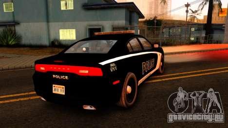 2014 Dodge Charger Cleveland TN Police для GTA San Andreas вид сзади слева